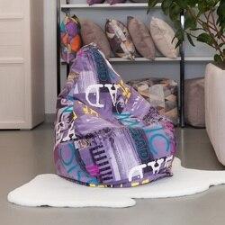 Lima-pufe cadeira saco delicatex roxo