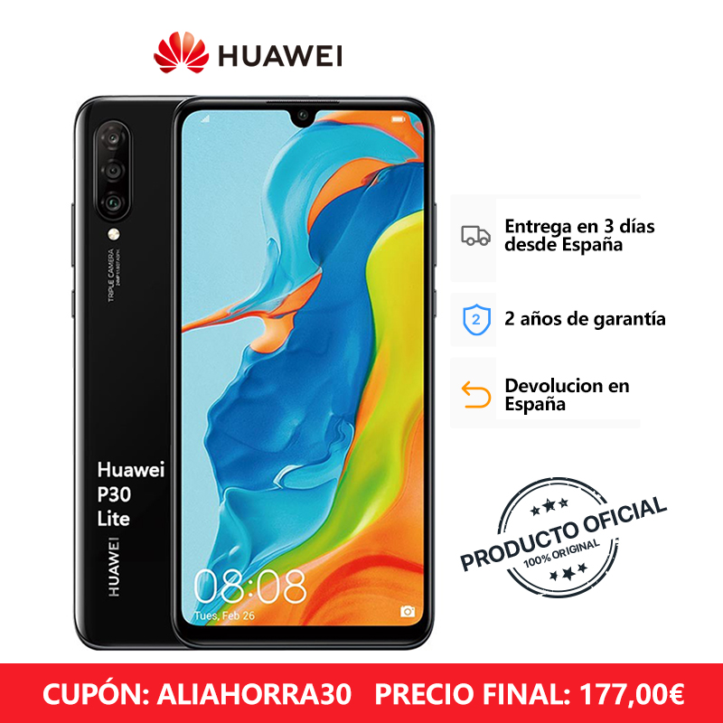 Huawei P30 Lite Smartphone (4 Hard Gb RAM, 128 Hard Gb ROM, Phone Mobile. Free, New, Cheap, Google, Android) [Spanish Version Official]