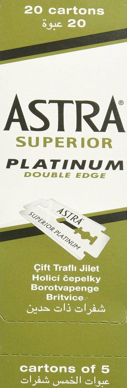 100 Piece 100 Astra Superior Platinum Double Edge Safety Razor Blades