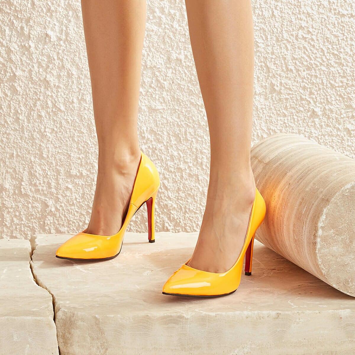 FLO LELA01Y SKIN Orange Women 'S Stiletto BUTIGO