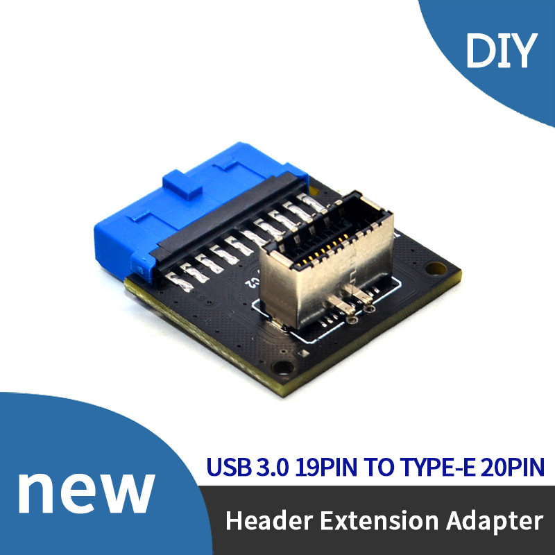 USB 3.0 Internal Header To USB 3.1/3.2 Type C Front Type E Adapter 20pin To 19pin Converter For Pc Motherboard Connector Riser