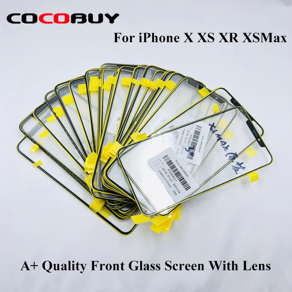AAA+ Quality Front Outer Glass Lens Screen For IPhone X XS XR XS Max 11 Pro Max LCD Screen Outer Glass Replacement Repairing