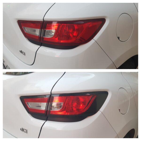 Задний стоп-сигнал головной светильник рама лампы Накладка хвост светильник Рамка протектор Стикеры 4 шт. для Renault Clio IV 4 2012 -2019