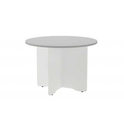 MEETING TABLE ROUND 120CM IN DIAMETER HEIGHT 72CM COLOR: WHITE LEG/GRAY BOARD