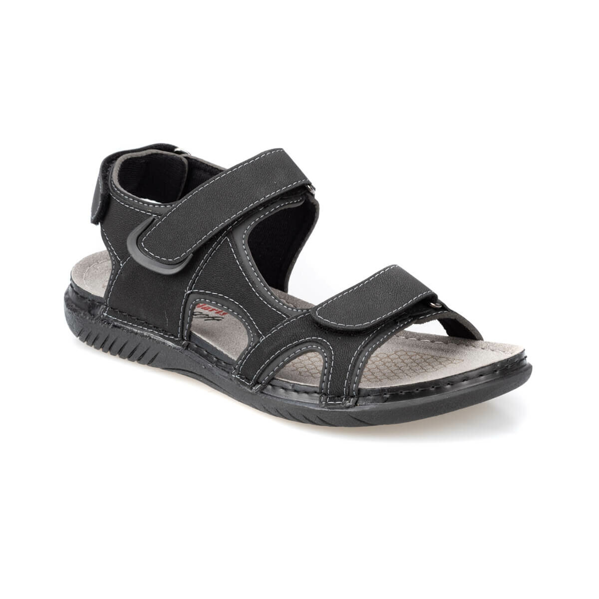 FLO 91.150579.M Black Male Sandals Polaris