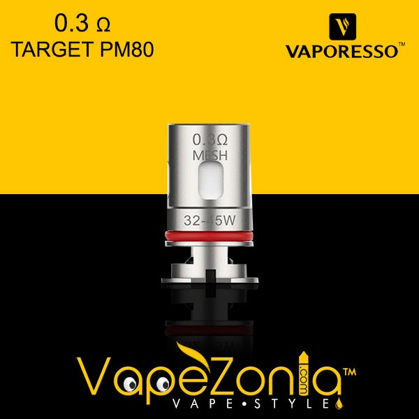RESISTENCIA GTX 0.3 Ω MESH COIL VAPORESSO TARGET PM 80