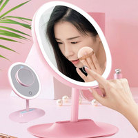 LED Mirror Makeup Mirror with LED light vanity Mirror 1X / 5 X Magnifying Mirror LED Portable Mirror Lamp Beauty Gifts