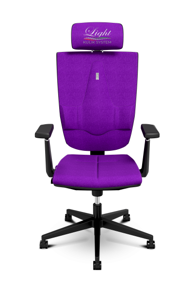 Office Chair KULIK SYSTEM SPACE Purple Computer Chair Relief And Comfort For The Back 5 Zones Control Spine
