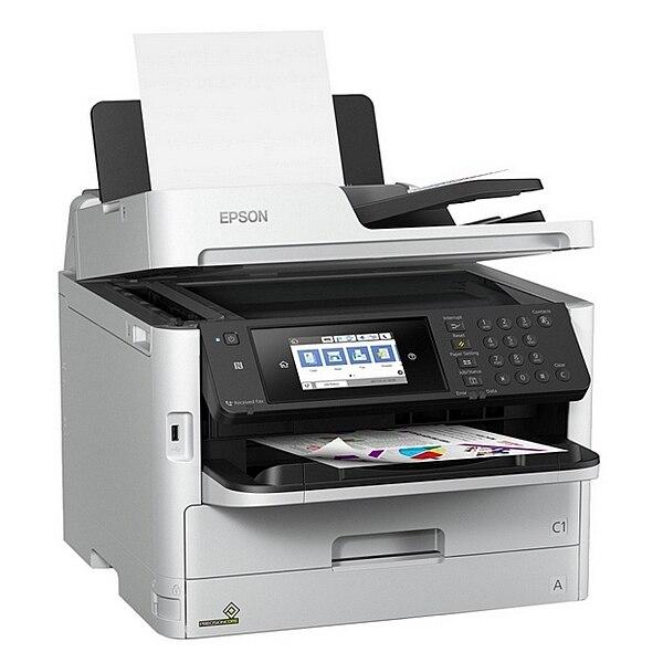 Multifunction Printer Epson WorkForce PRO WF C5790DWF 34 ipm WIFI LAN Fax White Printers     - title=