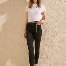 Trendyol Yıpratmalı High Waist Skinny Jeans TWOSS20JE0172