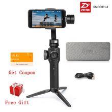 Zhiyun pürüzsüz 4 pürüzsüz Q2 3 Axis el Gimbal sabitleyici Smartphone eylem kamera telefonu için iPhone X XR 8 Huawei P30