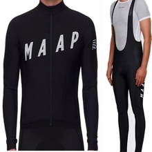 2019 MAAP cycling set winter mens long thermal fleece bicycle jersey kit clohes suit uniform mtb maillot ciclismo