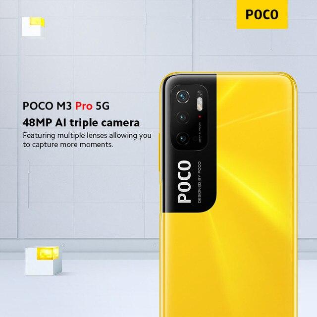 "Global Version POCO M3 Pro 5G Cellphone 64 /128GB ROM Dimensity 700 Octa Core 6.5"" 90Hz Display 48MP Triple Camera 5000mAh NFC 5"
