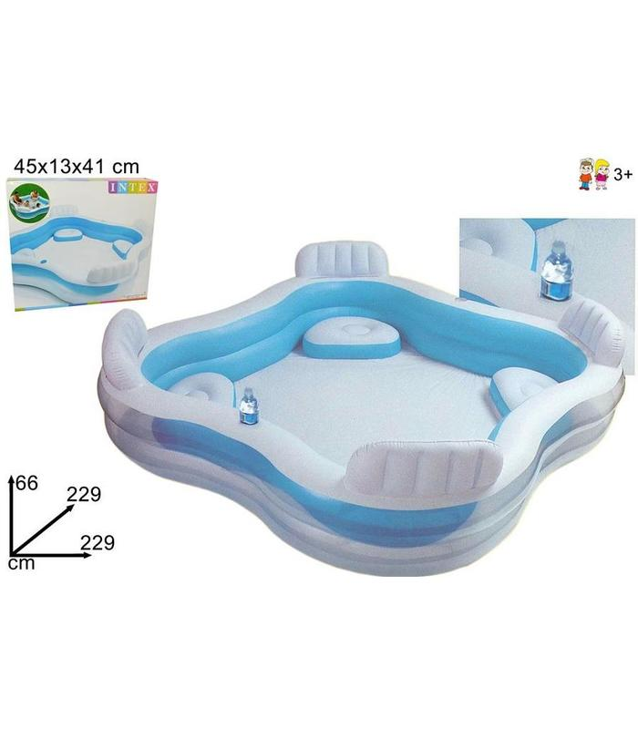 Pool With 4 Armchairs With Backrest 2.29x2.29x6 Toy Store