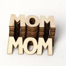 15pcs Mom Letter Wooden Confetti Table Scatter Birthday Party Decoration DIY Crafts Projects Wood Cutout Ornaments Family Gifts