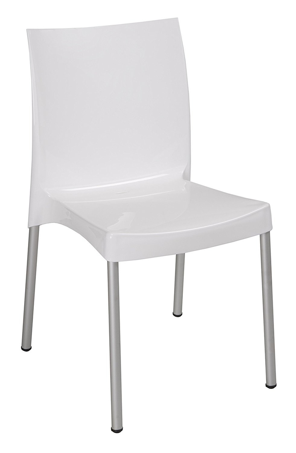 Chair NICAL, Aluminum, Polypropylene White Luster