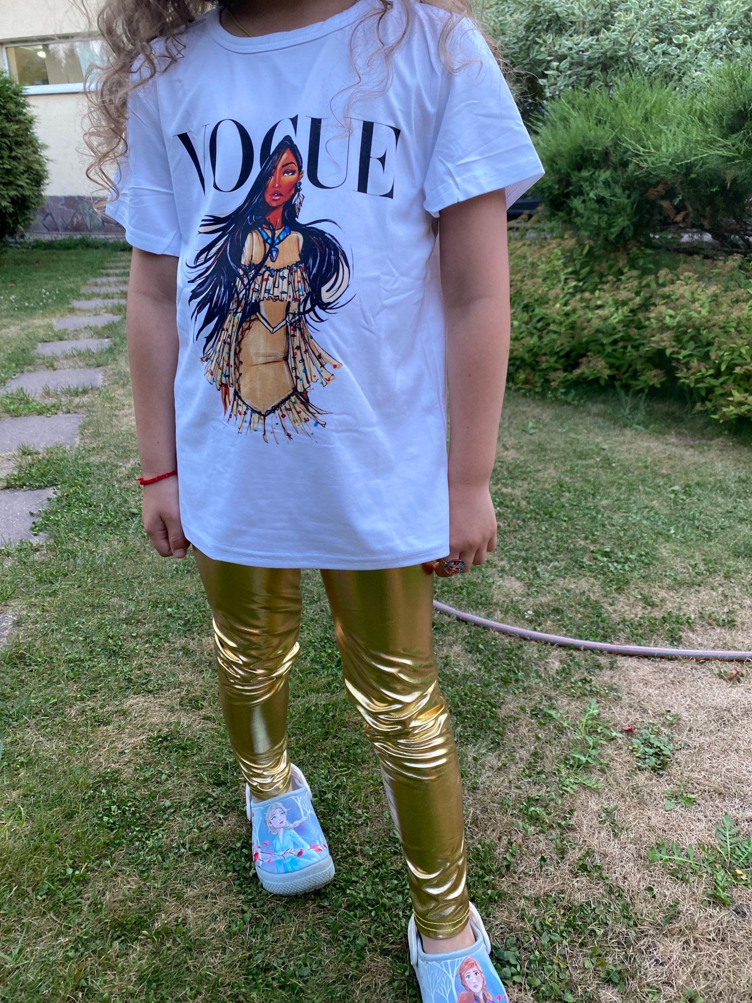 Children Girls Leggings Shiny Gold Silver Long Boys Punk Pants Autumn Spring Kids Pants Leggins photo review