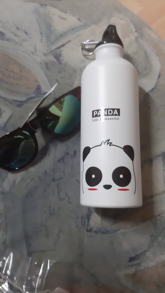500ml Water Bottle panda lion pattern portable drinking Cup aluminum sports water bottle with Handle for Outdoor Camping|Water Bottles|   - AliExpress