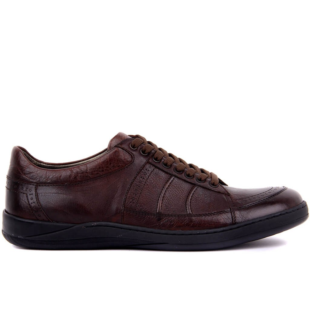 Sail Lakers-Brown Leather Men 'S Shoes