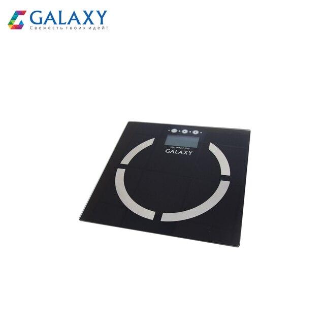 """Многофункциональные электронные весы Galaxy GL 4850, максимально допустимый вес 180 кг, аккумулятор """"CR2032"""" в комплекте"""