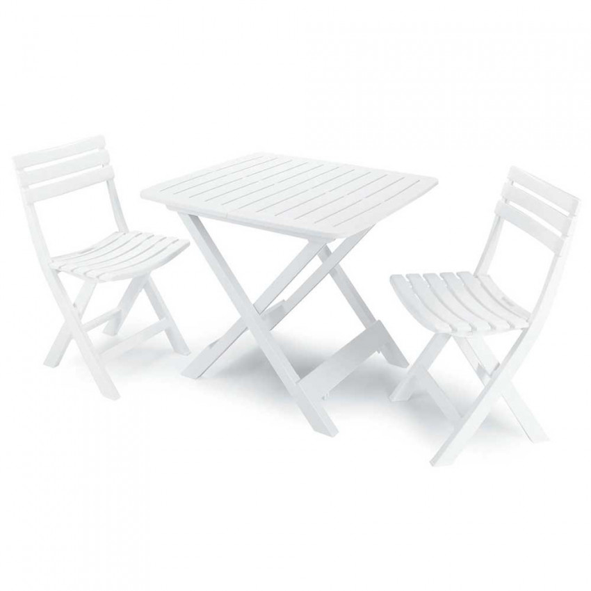 Folding Set Of 2 Chairs And Table For White Camping