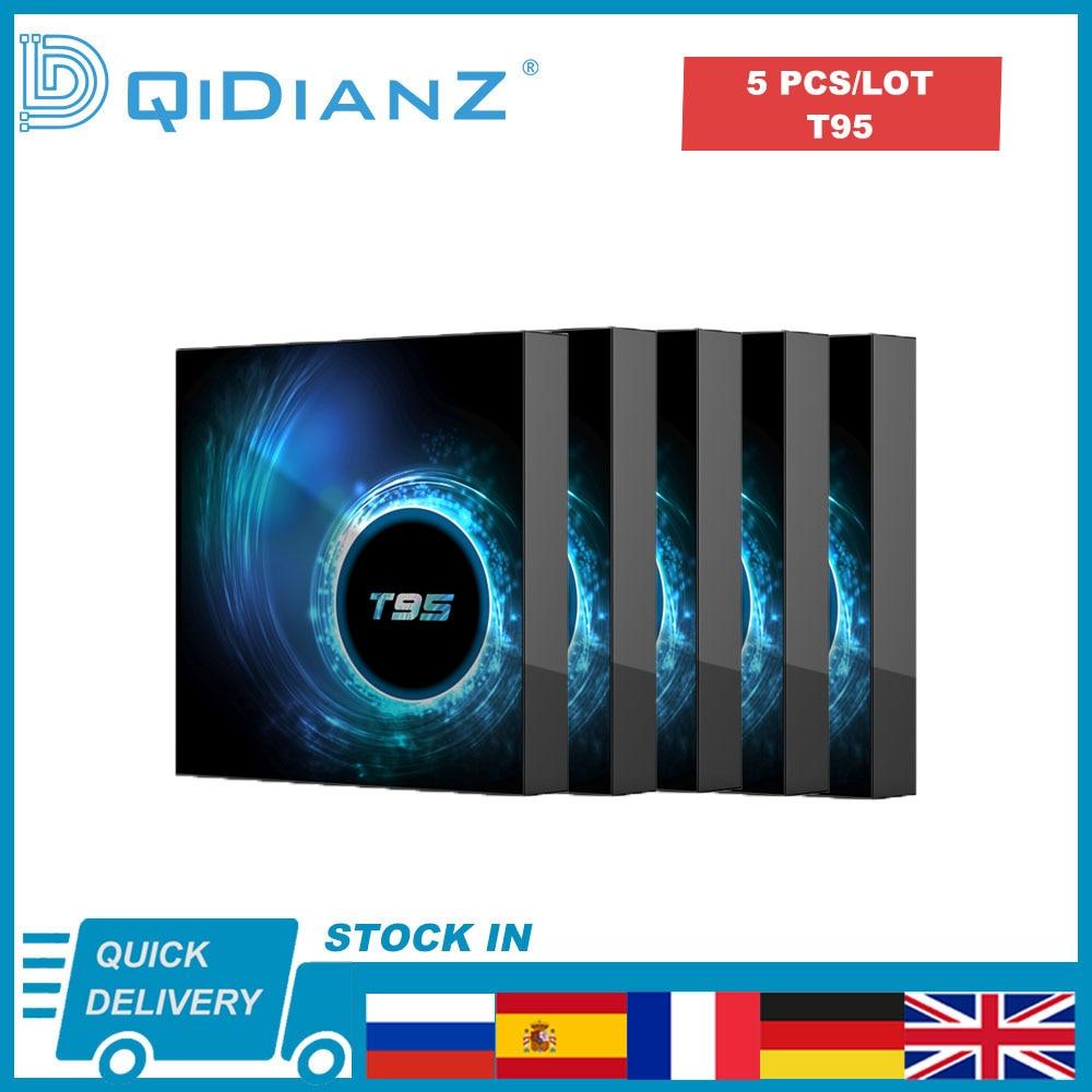5 шт./комплект, ТВ-приставка T95 на Android 10,0, 4k, 1080P, HDR, Allwinner H616, четырехъядерный процессор, 2,4 ГГц, Wi-Fi, 4 + 32/64 ГБ
