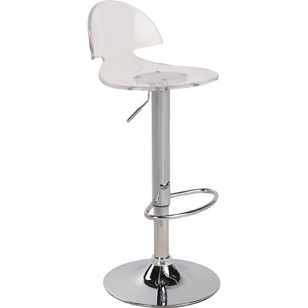 Stool BOW, Chrome, Clear Acrylic