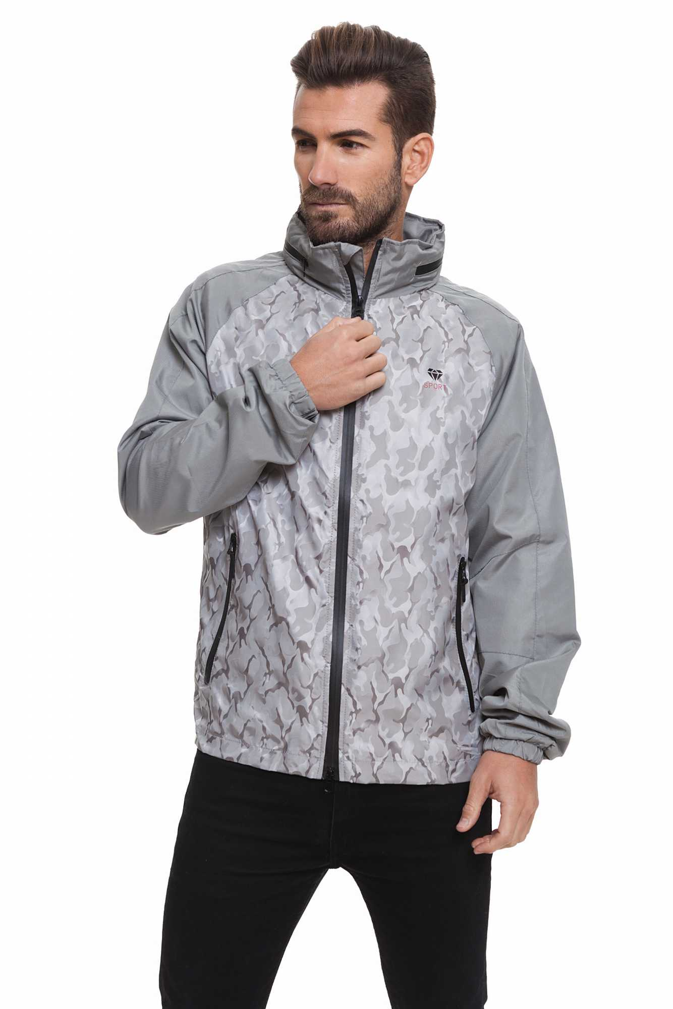 Born Rich Jacket For Men FABREGAS With Hoodie And Zipper Length Color Alloy Causal BR2K111097AA2BRC-2BR2K111097AA2BRC-3