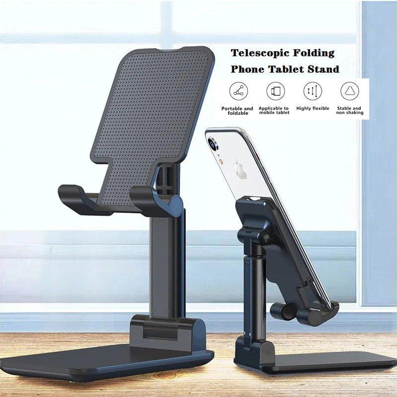 Telescopic Folding Smart Phone Tablet Stand Desktop Foldable Universal Phone Holder for iPhone Samsung Huawei Learning Selfie