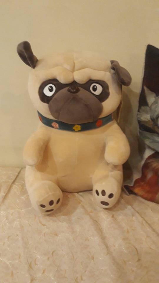 1PC 25-50CM Sand Dogs Doll Stuffed Simulation Dogs Plush Sharpei Pug Lovely Puppy Pet Toy Plush Animal Toy Children Kids