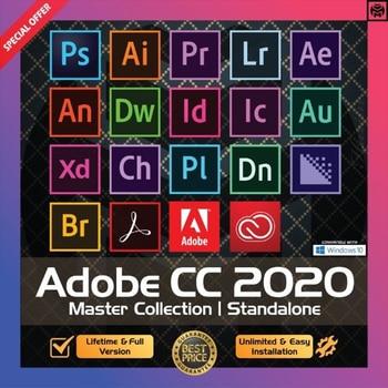[Latest] Adobe CC 2020 - 2021 Win 10 / Mac - Photoshop, Illustrator, After Effects, Premiere Pro, InDesign, Lightroom - Lifetime