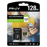 Micro SD Memory Card with Adaptor PNY 100 MB\/s Black