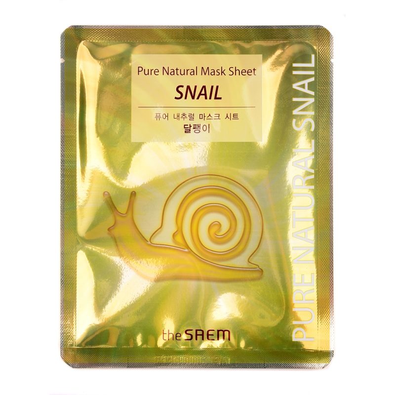 The SAEM Snail Mask Sheet With муцином Snail 20ml