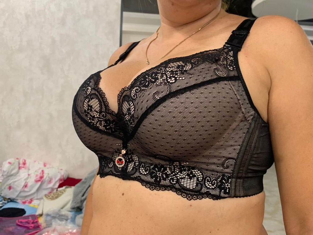 Celine Ultimate Lift Stretch Full-Figure Seamless Lace Support Bra - wedaga photo review