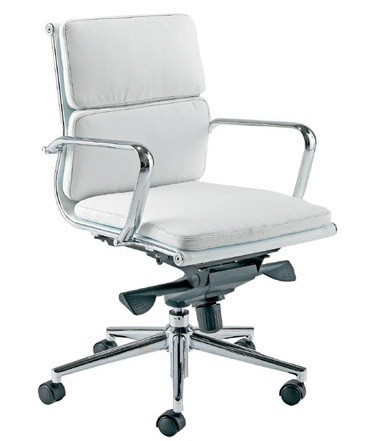 Office Armchair MISSOURI-version 08-, Similpiel White