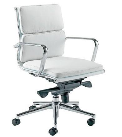 Office Armchair MISSOURI-version 08-, Similpiel White