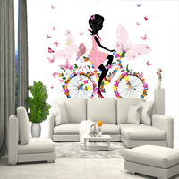 Kids 3D wall mural for girl, wallpaper on wall, for Hall, kitchen, bedroom, nursery, wall mural expanding space