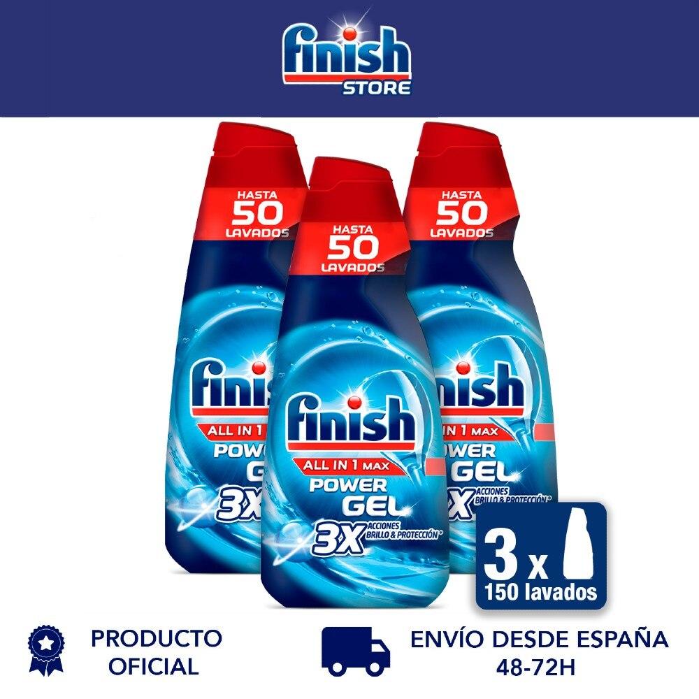 Все готово 1 Максимальная мощность, гель для посудомоечной машины, сияющая защита-упаковка из 3, до 150 стирки