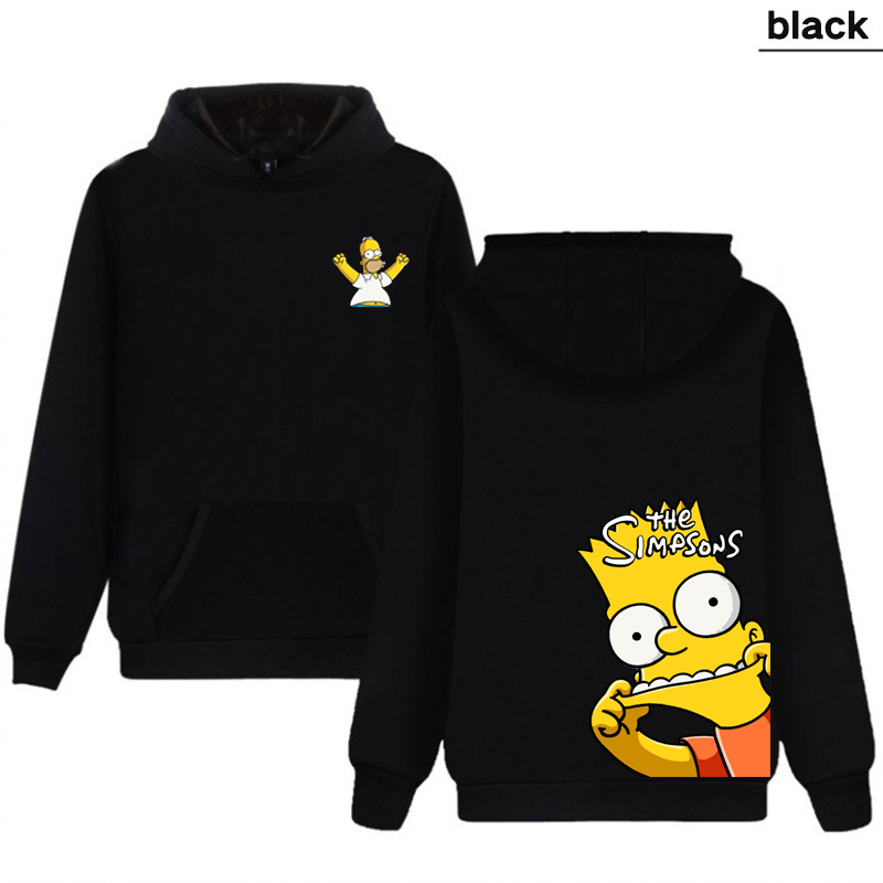 Men's Hoodies Double-sided Pattern Funny Simpson Print Women Sweatshirt Winter Streetwear Long Selvee Hoody