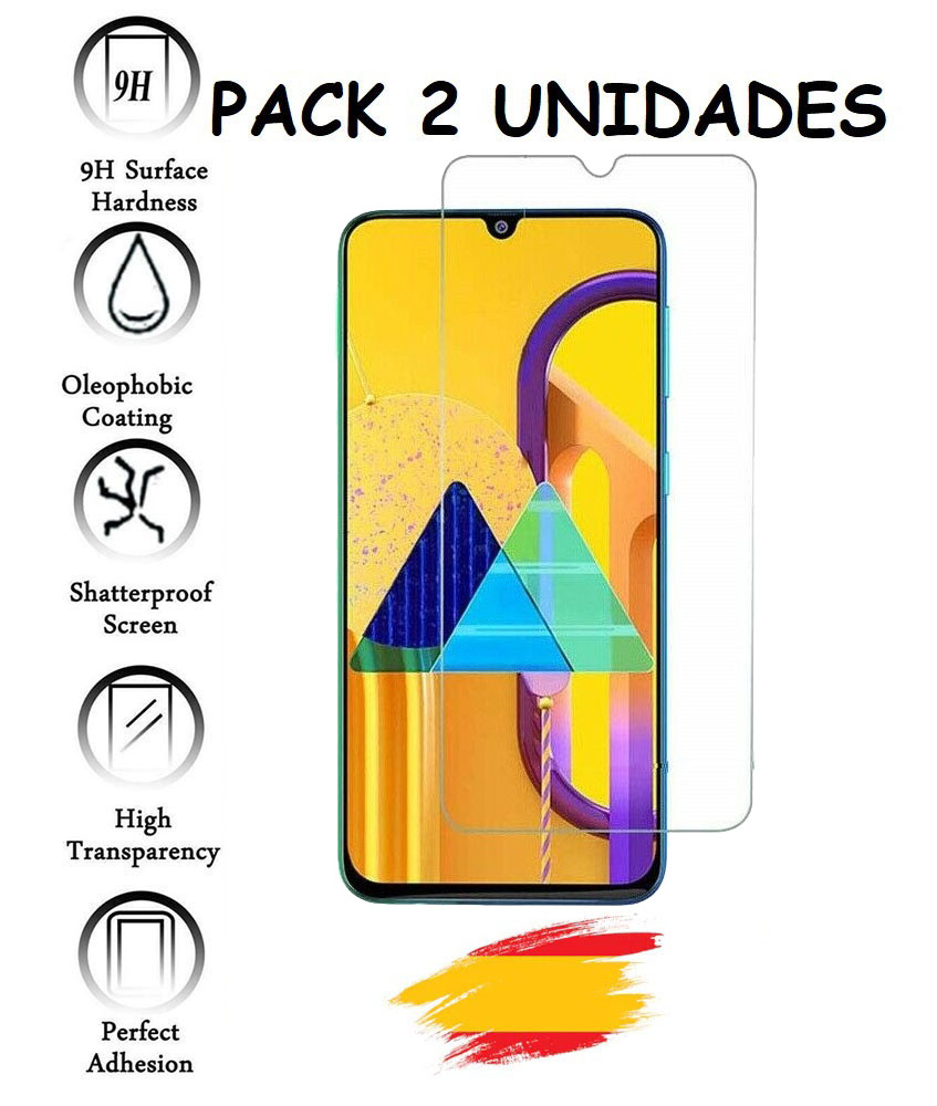 2X For SAMSUNG GALAXY M30S Tempered Glass Glass Protector Shockproof 9 H, 2 Units
