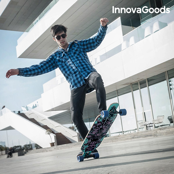 InnovaGoods Longboard Skateboard