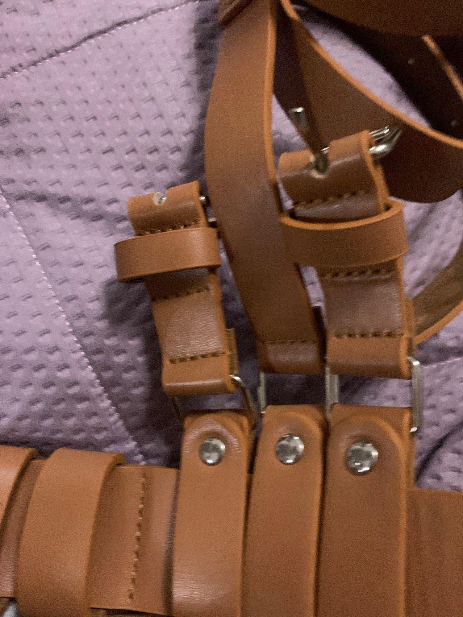 Pastel gothic Leather Body Bondage Waist Belt photo review