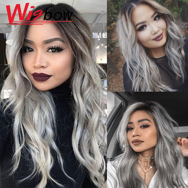 Lace Closure Human Hair Wigs Grey Wig Deep Wave Pre Plucked Hairline With Baby Hair 150% Brazilian Remy Human Hair Closure Wigs