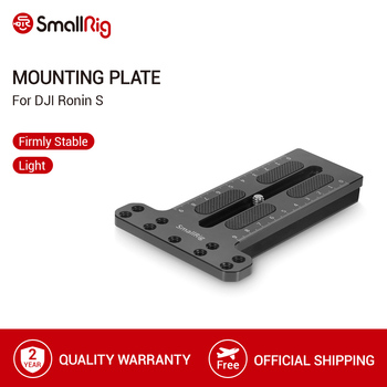 SmallRig Counterweight Mounting Plate With 1/4-20 Threaded Holes for DJI Ronin S Gimbal Stabilizer Quick Release Plate -2308 aluminium camera quick release plate offset for bmpcc 4k ronin s zhiyun crane 2 3 stabilizer handheld gimbal mount plate board