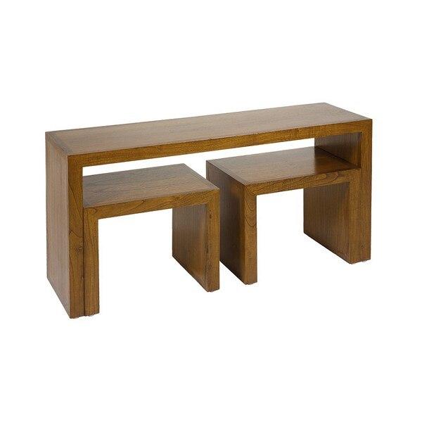 Console Mindi Wood Plywood (3 Pcs)