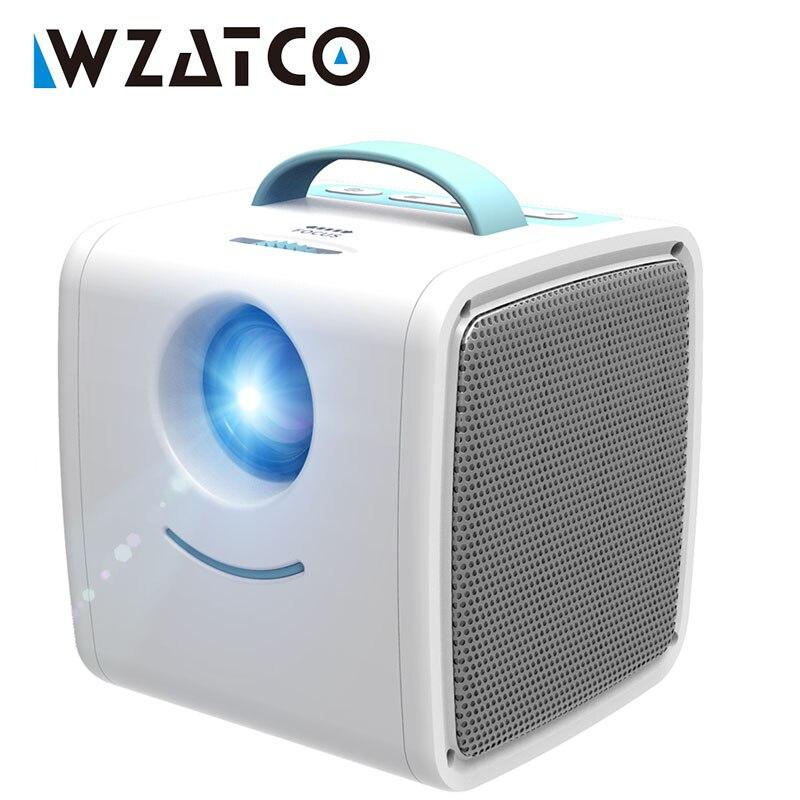 WZATCO Q2 мини портативный проектор 700 люмен HDMI детский Сказочный проектор высококлассный электронный подарок светодиодный домашний проектор