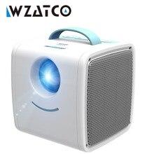 WZATCO Q2 جهاز عرض صغير محمول 700 لومن HDMI للأطفال قصة الأطفال العارض الراقية الهدايا الإلكترونية LED المنزل متعاطي المخدرات