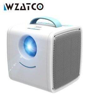 Image 1 - Wzatco Q2 ミニポータブルプロジェクター 700 ルーメン hdmi 子供ストーリープロジェクターハイエンド電子ギフト、ホームビーマー