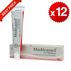 Madecassol 1% Creme Narbe Verletzungen Verbrennungen Akne Falten-Centella Asiatica 40g-12 packs