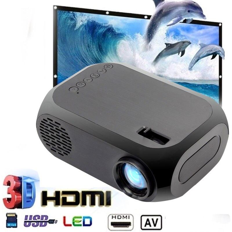 BLJ-111 Mini projecteur LCD Portable rouge-bleu 3D Full HD USB HDMI AV TF LED cinéma maison Film cinéma Film lecteur multimédia